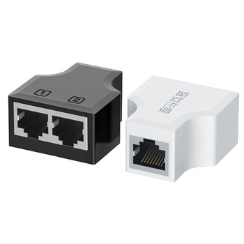 1 do 2 sposobów kabel Ethernet Adapter przewód Lan Extender Splitter na kabel internetowy połączenie 1 wejście 2 wyjście tanie i dobre opinie CN (pochodzenie) Network Extender Bagged Black White