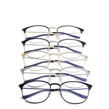 Yiwa Round Metal Blue Light Eyeglasses frame for women men Anti-radiation anti-fatigue comp