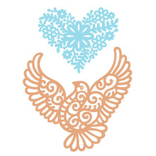 Naifumodo Heart Shape Flower Metal Cutting Dies Birds DIY Etched Dies Craft Paper Card Making Scrapbooking Embossing New 2019 diyarts heart shape flower metal cutting dies lovebird diy etched dies craft paper card making scrapbooking embossing new 2019