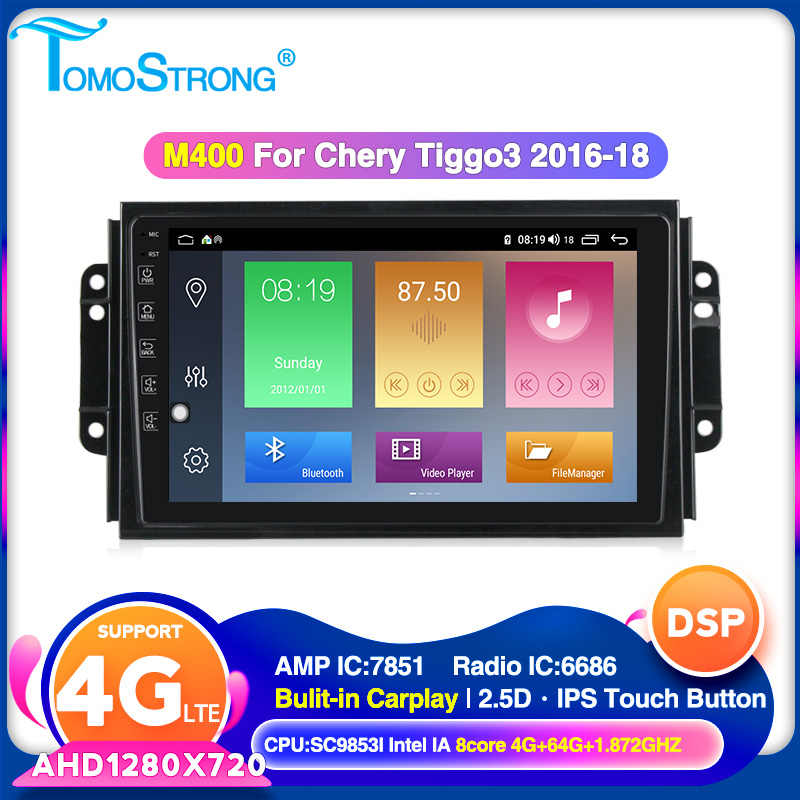 Tomostrong Auto Radio untuk Chery Tiggo 3X Tiggo 3 2016-2018 Mobil Radio Multimedia Player 2 DIN Head Unit dengan Carplay 4G LTE