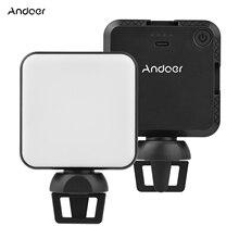 Andoer W36 Mini Đèn LED Video Di Động Chụp Ảnh Ánh Sáng Với Nhiệt Độ Màu 5600K Có Thể Điều Chỉnh Độ Sáng 3 Giày Lạnh Núi