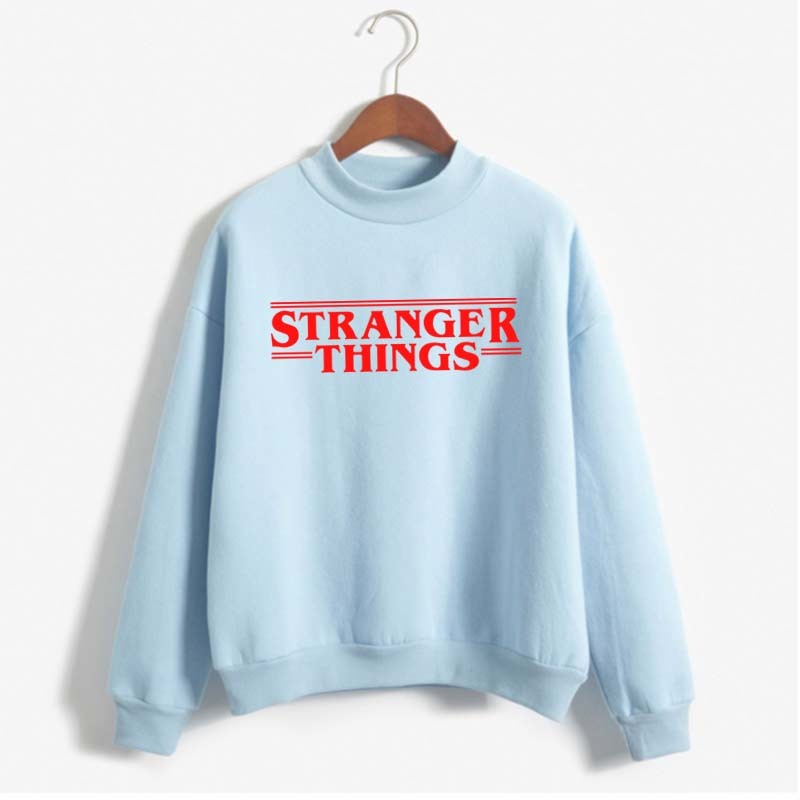 2019 New Fashion Women's Sweatshirt Printed Letter STRANGER THINGS Casual Plus Size Women Clothes Moletom Pullovers title=