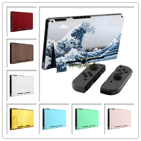 Custom Console Back Plate DIY Replacement Housing Shell Case for Nintendo Switch Console with Kickstand