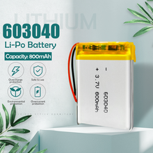 3.7v 800mah battery 603040 lithium ion li-polymer battery For PAD DVD E-book bluetooth headset Rechargeable battery accumulator