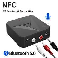 Bluetooth 50 nfc аудиоприемник беспроводной передатчик приемник