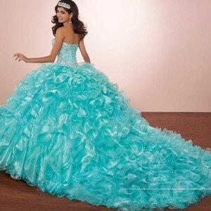 Мятно-зеленое платье Quinceanera с жакетом, милое платье 16 цветов с кристаллами и бисером, Коралловое маскарадное платье 15 anos