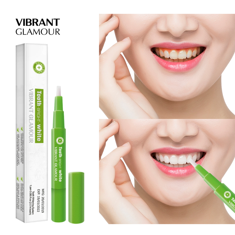 VIBRANT GLAMOUR Teeth Whitening Pen Cleaning Remove Stains Dental Tools Oral Hygiene Tooth Gel Whitenning Toothpaste Tooth Care