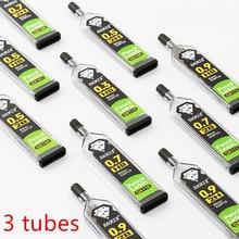 3 tubos 30 pces/tubo lápis mecânico chumbo qx110 2b 2h hb lápis recarga 0.3mm 0.5mm 0.7mm 0.9mm artigos de papelaria de escrita