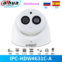 Dahua IP Camera 6MP PoE IR Dome IPC-HDW4631C-A Night Vision Built-in Mic CCTV Security cam IP67 Replace IPC-HDW4433C-A Turret