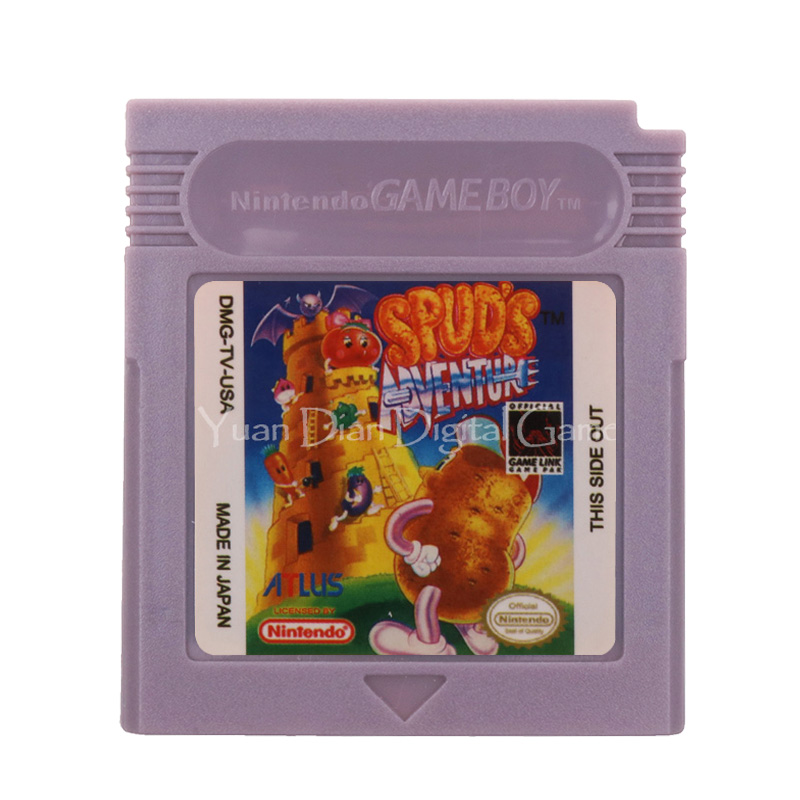 For Nintendo GBC Video Game Cartridge Console Card Spud's Adventure English Language Version