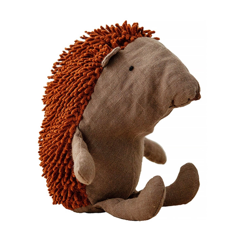 Nordic Forest Animal Linen Hedgehog Doll Pillow Stuffed Plush Toys Wedding Party Home Decor Baby Kids Birthday Gifts