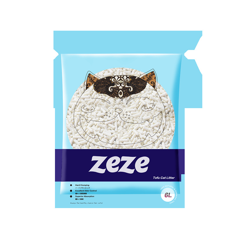 Zeze Dust 6L Tofu Dust Small Deodorant Suction Smelly Less Cat Litter Granule Hydroscopicity Cluster Qiang Yuan Wei Xiang