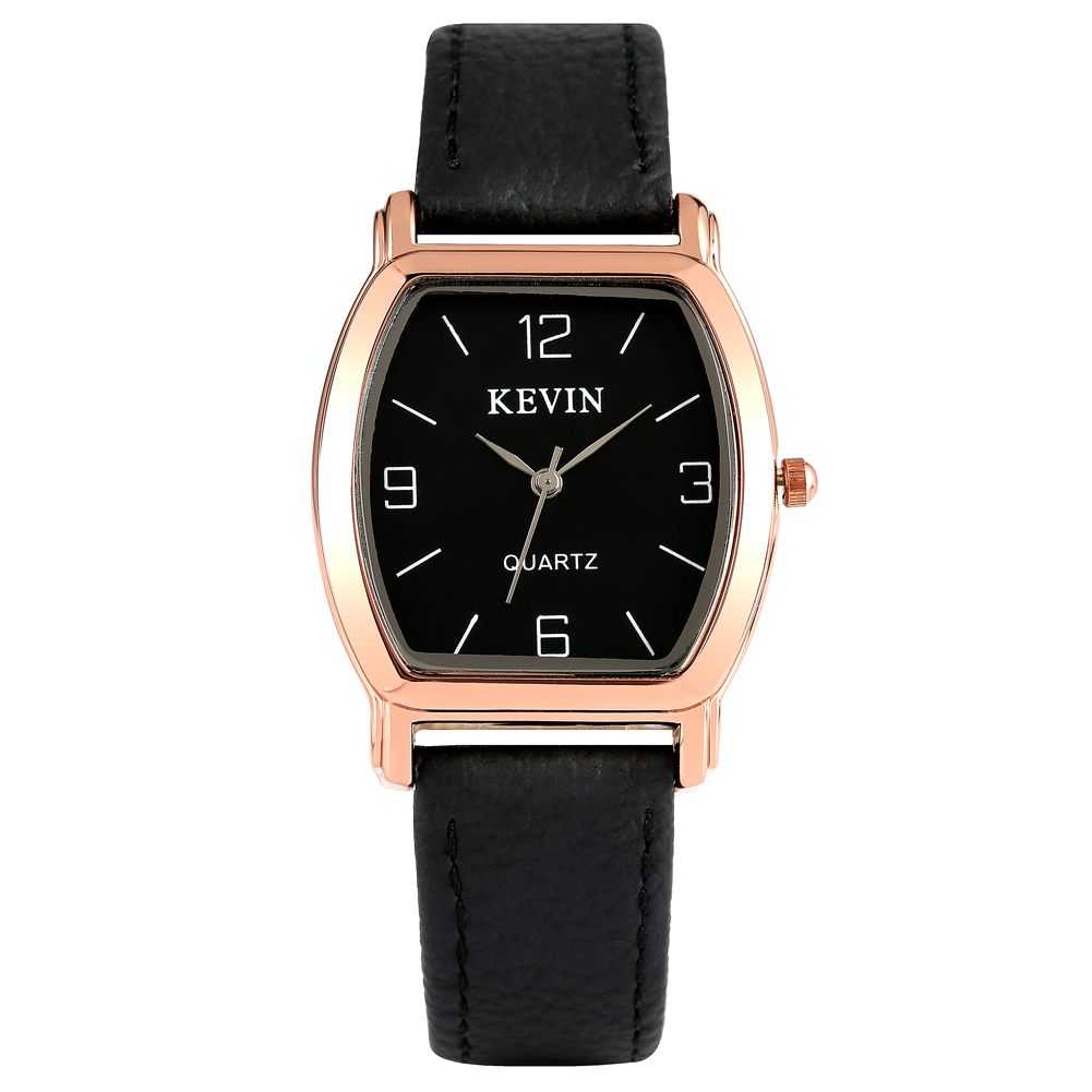 KEVIN Casual Watch Durable Leather Band For Men Artificial Quartz Wrist Watch Elegant Watch For Male