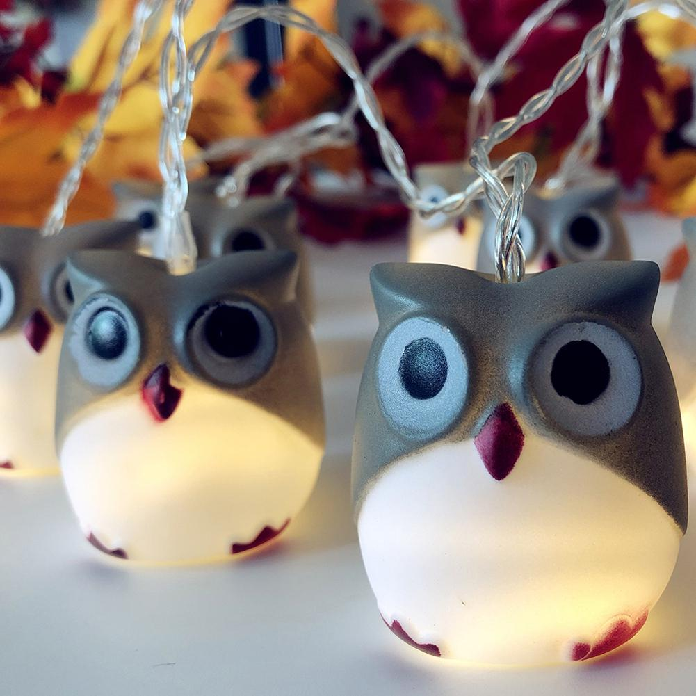 HobbyLane LED Christmas Halloween Scary Owl String Lights For Home Bar Patio Indoor Outdoor Wedding Decoration Flash Lights