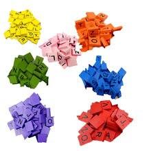 100 piastrelle in legno di scarabocchio giocattoli di apprendimento lettere nere numeri artigianato alfabeti in legno gioco del cervello piastrelle di scarabeo Puzzle di alfabeto
