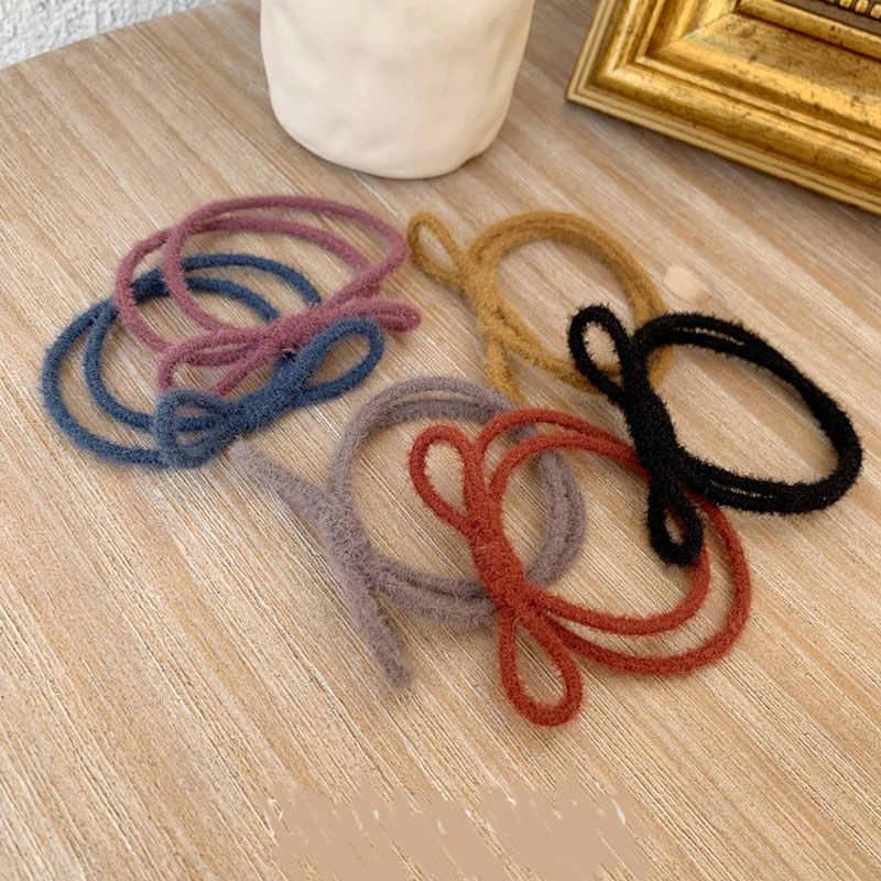 Banda para el cabello de Color sólido elástico con lazo para niñas y niños