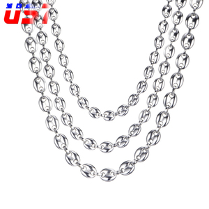 US7 Coffee Beans Link Chain 7M
