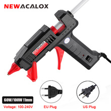 NEWACALOX 60W/100W Hot Melt Glue Gun with 11mm Hot Melt Glue Sticks Heat Temperature Tool 110V/220V Mini Guns Thermo Gluegun