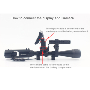 Image 2 - Best Sniper Outdoor Hunting Optic Sight Tactical Riflescope Infrared flashlight with LCD night vision For scope