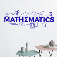 Mathematics Wall Decal Math Classroom Decor School Vinyl Sticker Gift Education Quote Sign Science Motivational Poster SK63