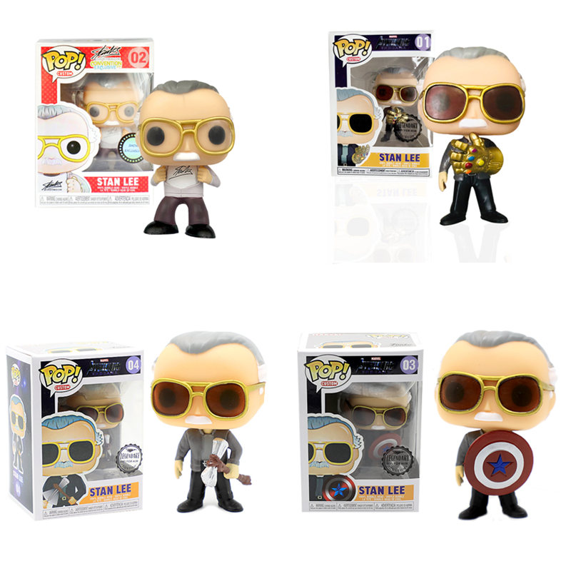 Funko POP Marvel Avengers Stan Lee & Infinity Gauntlet QUAKE Thor Stormbreaker Action Figures Toys For Children Xmas Gift