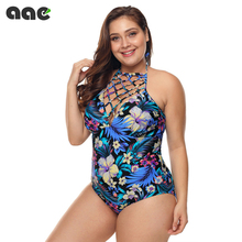 2020 Sexy Plus Size Swimsuit Women One Piece Swimwear Female Vintage Push up Swimming for Monokini Big Size Bathing Suit M-3XL plus size sexy straps one piece swimsuit vintage black solid push up bathing suit hollow european style high waist swimwear 6606