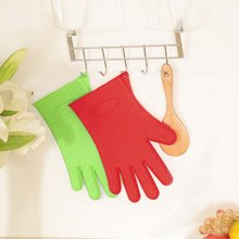 Kitchen Microwave Oven Mitt Insulated Oven Heat Resistant Silicone Glove Oven Pot Holder Baking BBQ Cooking Non-slip Tool alex clark rooster double oven glove