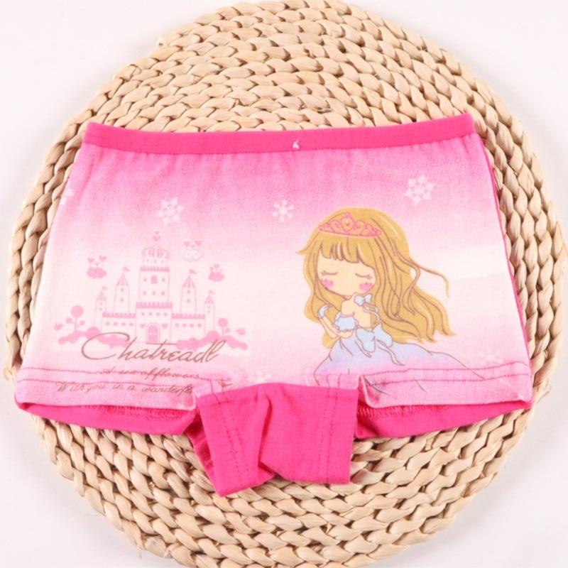 4pcs/Lot Cute Pants For Girls Cotton Underwear Boxer Children's Kids Shorts Clothing 4