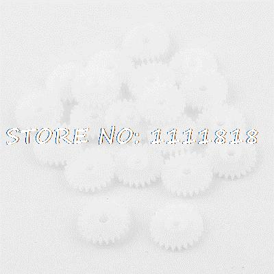 20 Pcs White Plastic Machine Electric Racecar Model 13mm Dia Gear