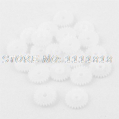 20 Pcs White Plastic Machine Electric Racecar Model 13mm Dia Gear