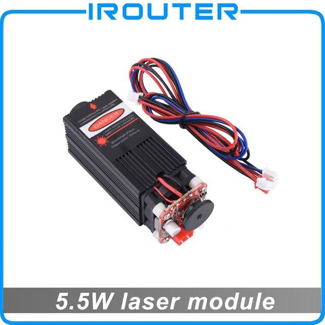 5.5 ワット 450nm 青色レーザーモジュール、レーザー彫刻機械部品、レーザー切断 ttl モジュール 5500mw レーザーチューブ