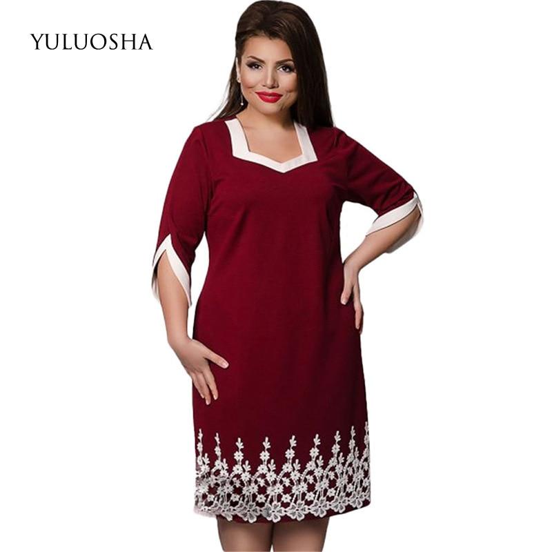 YULUOSHA New Plus Size Mother Of The Bride Dresses Lace A-Line Dresses Mother Groom Elegant Women Dress Vestidos Madre Novia