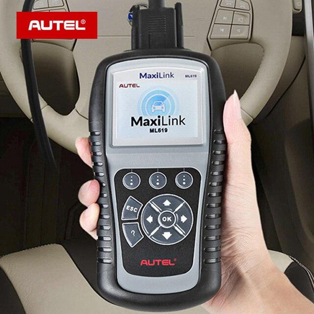 Autel MaxiLink ML619 ABS/SRS + CAN OBDII teşhis aracı kodları temizler ve monitörleri sıfırlar