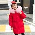-30 grad Mädchen Unten Mantel Kalten Winter Kinder Parka Jacken 2019 Warm dicken Kinder Mäntel Pelz Kragen Mit Kapuze Teen mädchen Oberbekleidung
