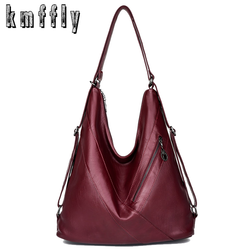 New Women Handbag Multifunction Pu Leather Large Messenger Bags For Women 2019 Luxury Handbags Women Bags Designer Shoulder Bag