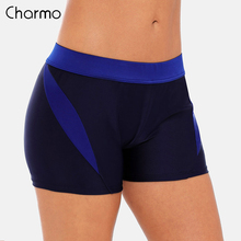 Charmo Women Swimming Shorts Ladies Color Patchwork  Bikini  Swimwear Briefs Tankini  Split  Bottoms split tankini set