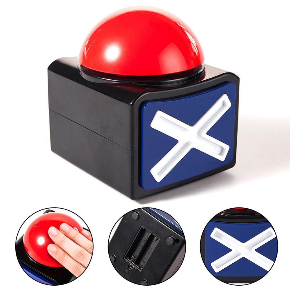 Game Buzzer Answer Buzzer Alarm Button Box With Sound Light Party Contest Prop Toy Sound 3 Seconds
