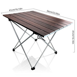 Image 3 - Portable Table Foldable Folding Camping Hiking Desk Table Traveling Aluminium Alloy New Sliver Coffee Camping Table