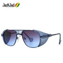 JackJad 2020 Fashion SteamPunk Style Side Shield Sunglasses
