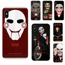 Soft Protective Horror Saw Mask Man Terrible For Samsung Galaxy Note 5 8 9 S3 S4 S5 S6 S7 S8 S9 S10 5G mini Edge Plus Lite(China)