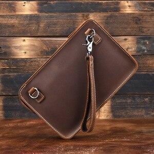Norbinus Мужская сумка из 100% натуральной кожи на плечо из натуральной воловьей кожи Crazy Horse Сумка через плечо маленькая сумочка iPad клатч сумка