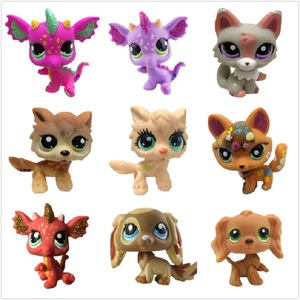 LPS Pet Shop Cute Short Hair Cat Toys Great Dane Collie Dogs PVC Action Stand Figure Toys Cosplay Dolls Model Toy Gifts For Kids
