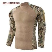 Армейская тактическая рубашка с длинным рукавом для страйкбола, костюм для пейнтбола, военная одежда для охоты
