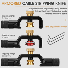 ACS 2 Armored Wire Stripper 4 10mm & 8 28mm Optical Cable Slitter Fiber Optic Stripping Tool Jacket Slitter Sheath Cutter