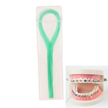30 шт. нитей зубной нити держатели зубной нити между ортодонтическими брекетами мост
