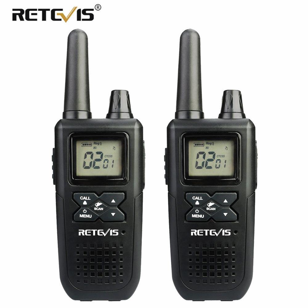 RETEVIS RT41 Portable Walkie-talkie 2pcs Emergency Radio Family Use VOX FRS NOAA Weather Alert USB Charging Mini Walkie Talkie