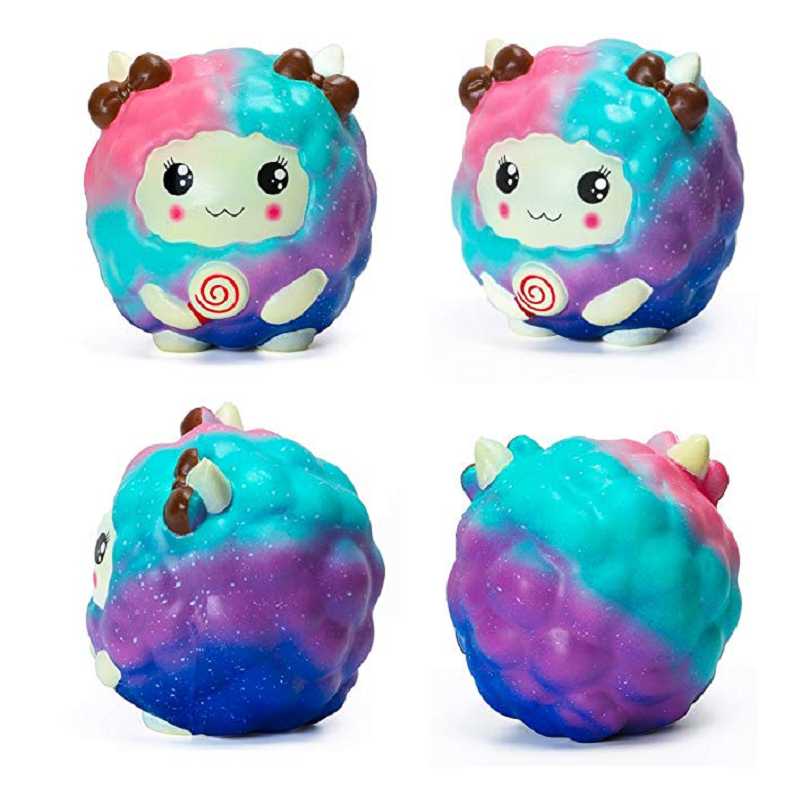 MSKWEE Squishies Slow Rising Kawaii Scented Jumbo Sheep Squeeze Toys For Kids