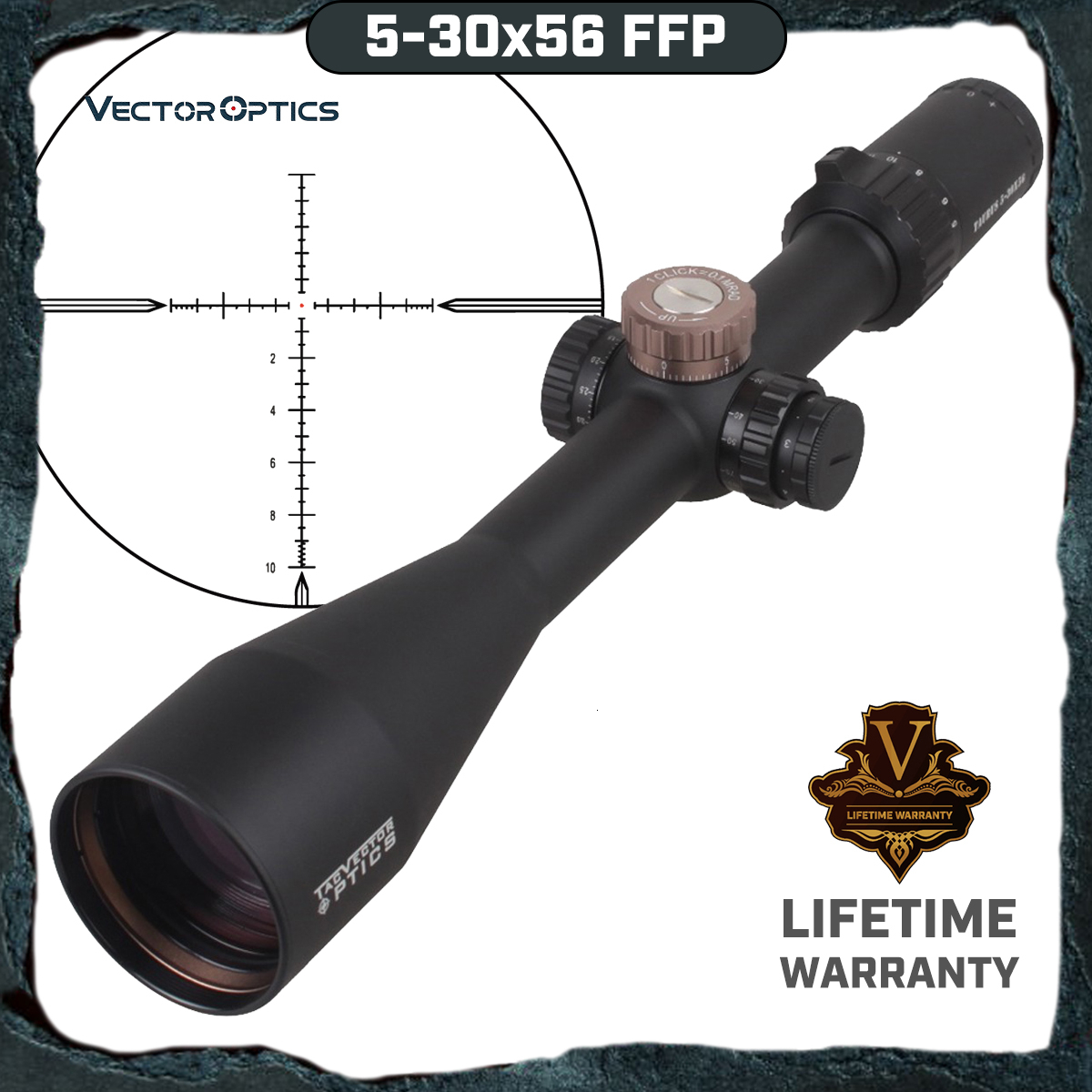 Vector Optics Taurus 5-30x56 First Focal Plane Military Tactical Riflescope Reticle High Quality Long Range Hunting Scope image