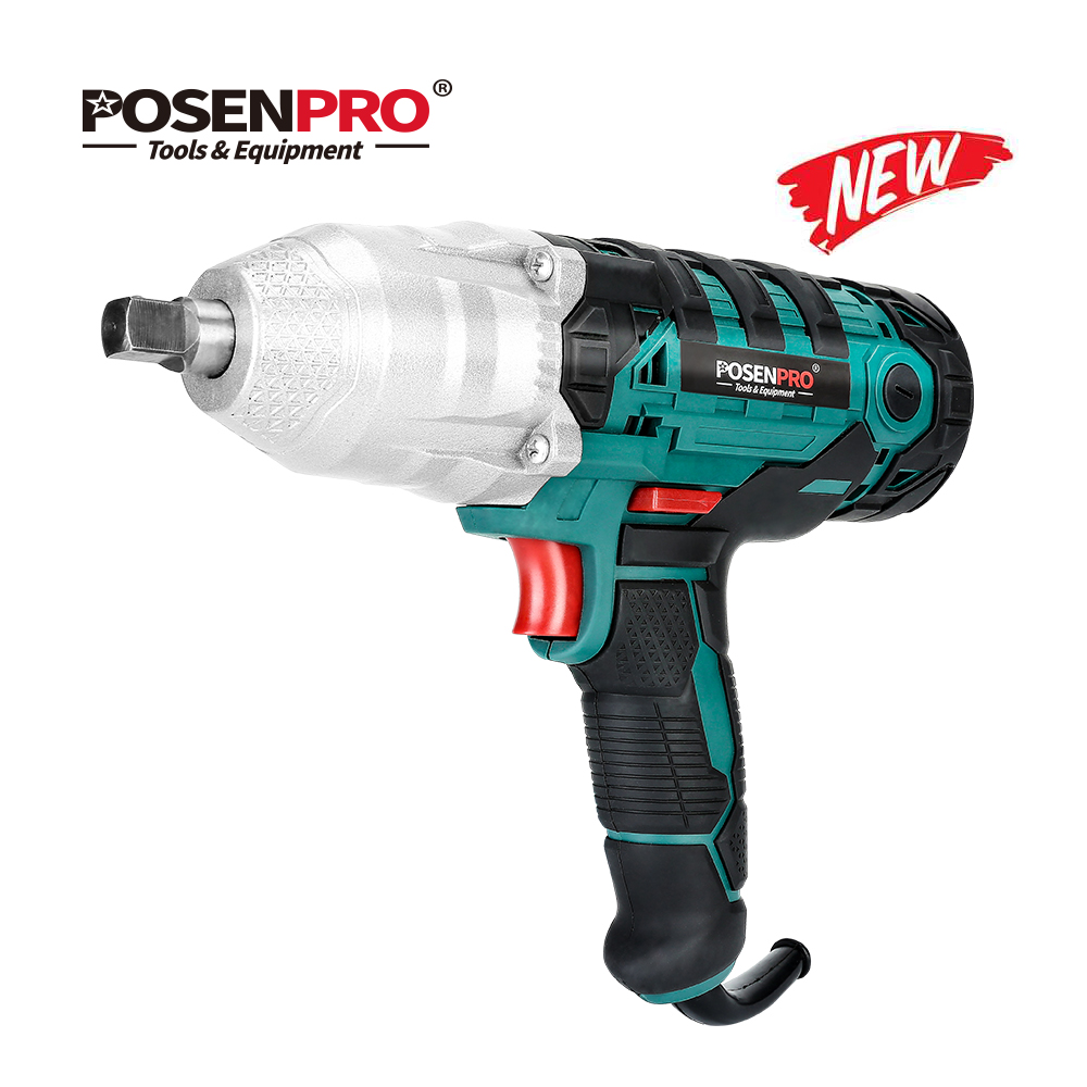 POSENPRO Electric Impact Wrench Powerful 450W 320Nm Max Torque 1/2 inch 2M Rubber Cable Car Socket Wrenches Power Tools BMC Box|Electric Wrenches| |  - title=