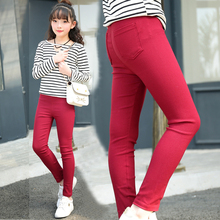 Children Pants Girls Candy Color Spring Summer Fall Slim Pencil Pant Infant Leggings Korean Fashion Kids Clothes Casual Trousers